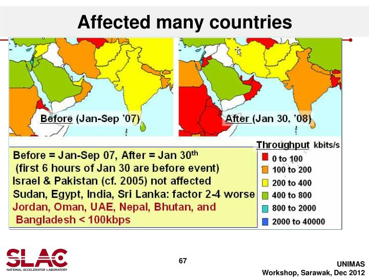 Affected many countries