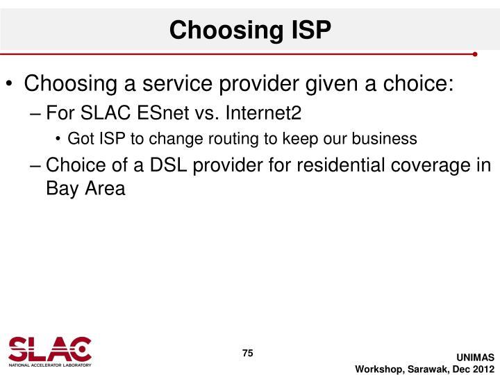 Choosing ISP