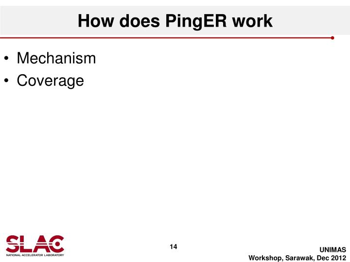 How does PingER work