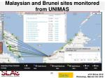 malaysian and brunei sites monitored from unimas