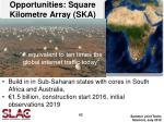 opportunities square kilometre array ska
