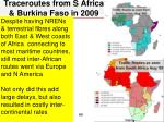 traceroutes from s africa burkina faso in 2009