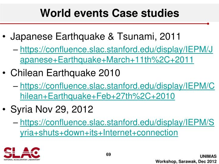 World events Case studies
