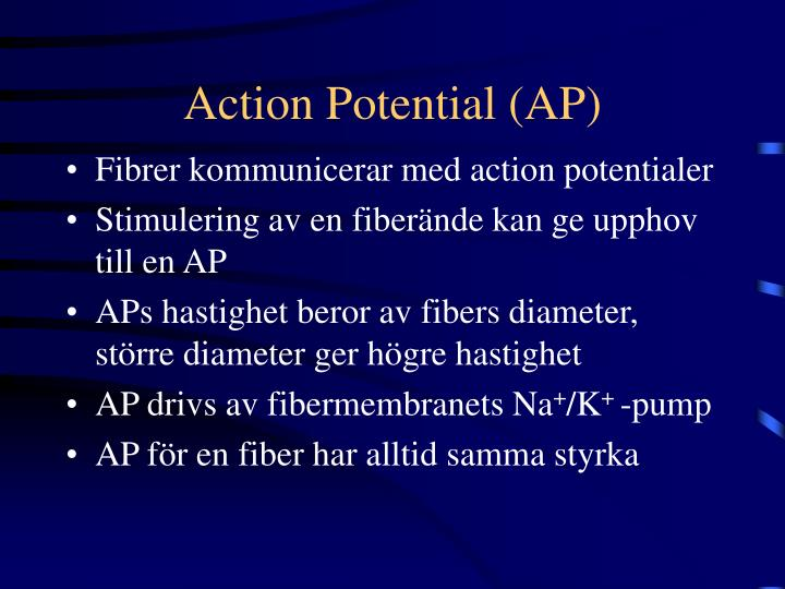 Action potential ap