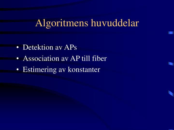 Algoritmens huvuddelar
