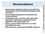 recomandations