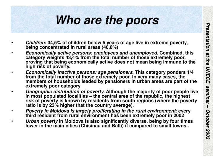 Who are the poors