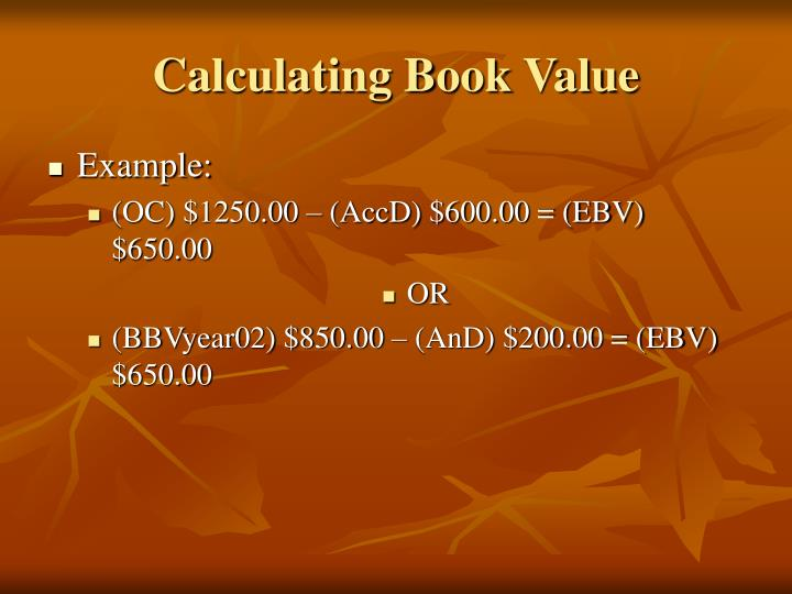 Calculating Book Value
