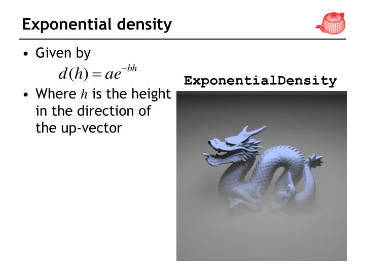 Exponential density