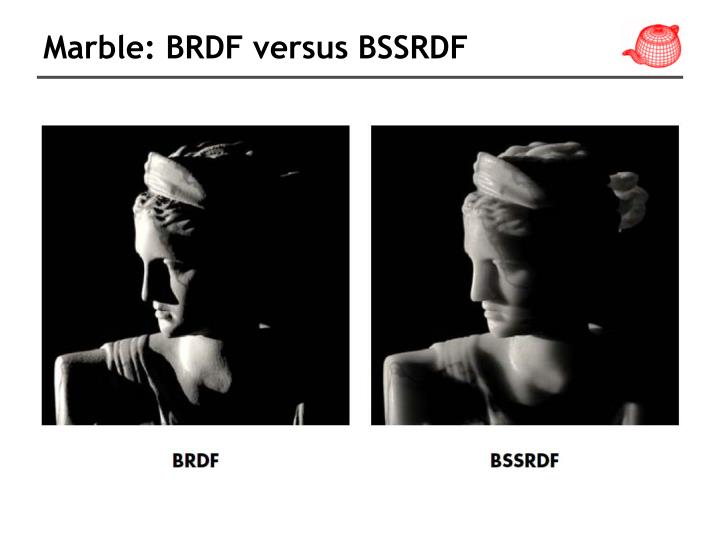 Marble: BRDF versus BSSRDF