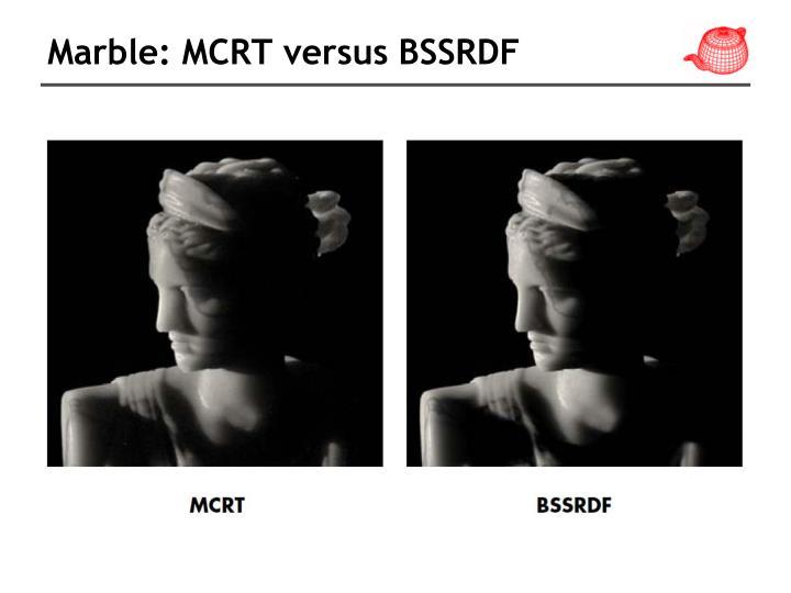 Marble: MCRT versus BSSRDF