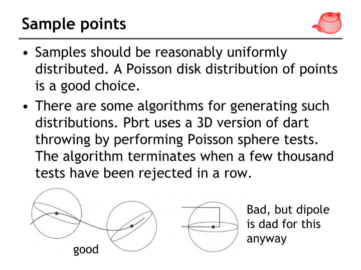 Sample points