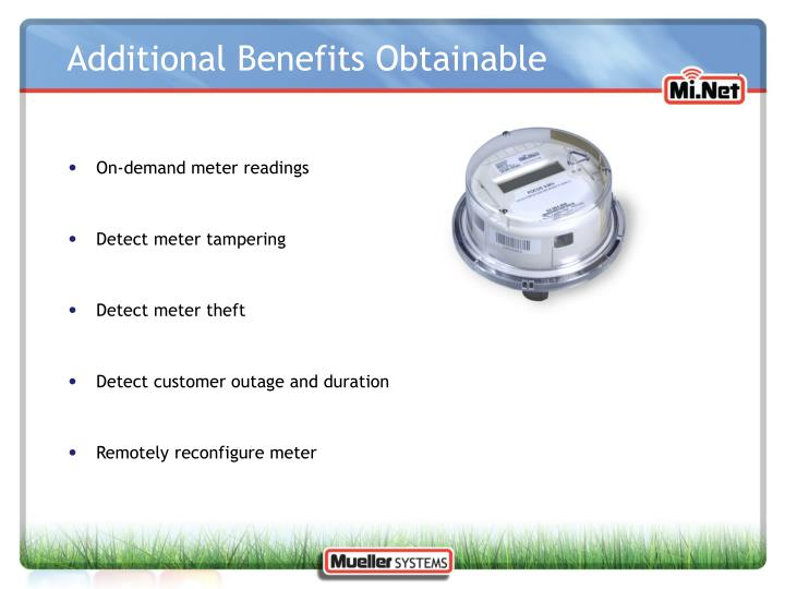 Additional Benefits Obtainable