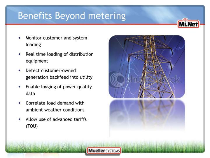 Benefits Beyond metering