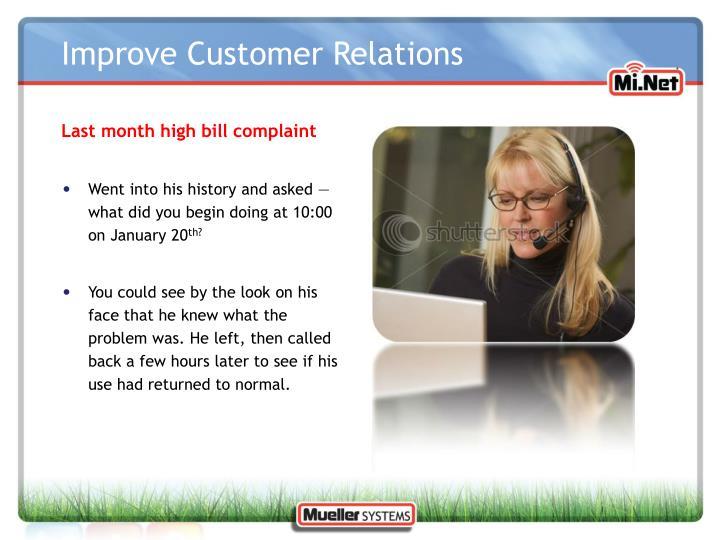 Last month high bill complaint