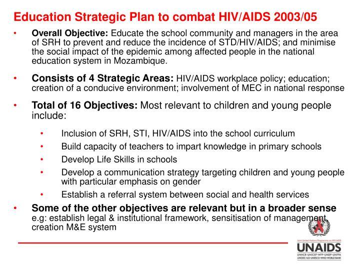 Education Strategic Plan to combat HIV/AIDS 2003/05