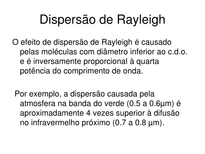 Dispersão de Rayleigh
