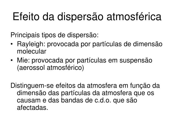 Efeito da dispersão atmosférica