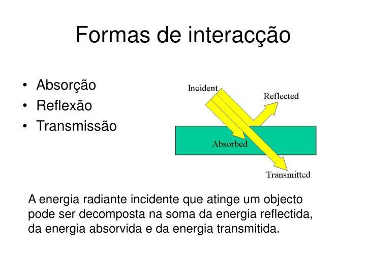 Formas de interacção