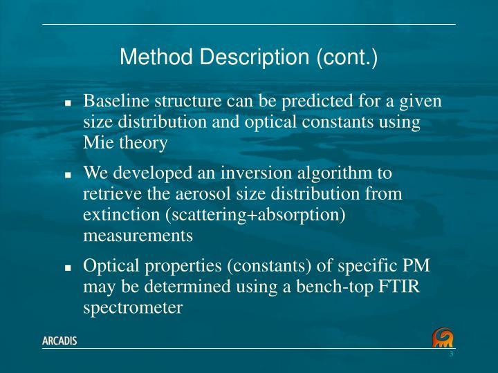 Method Description (cont.)