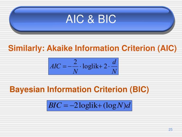 AIC & BIC
