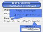 bias variance decomposition examples