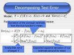 decomposing test error