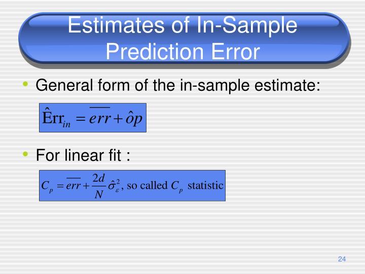 Estimates of In-Sample Prediction Error