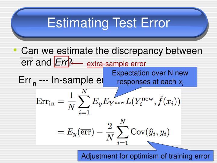 Estimating Test Error