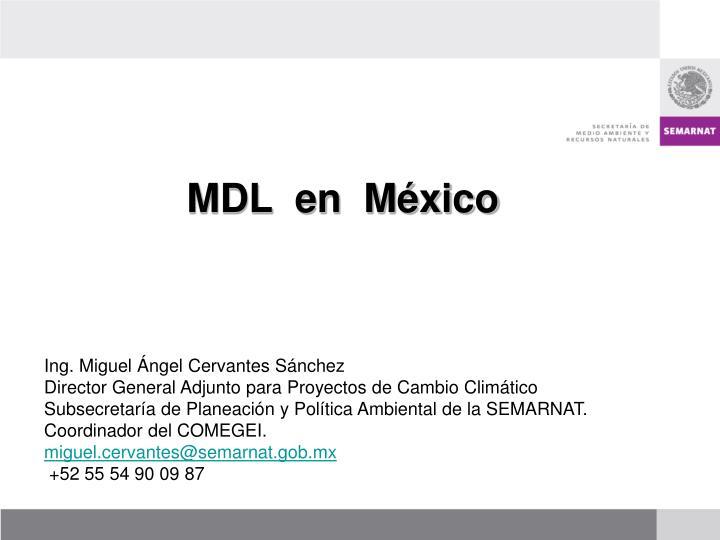 MDL  en  México