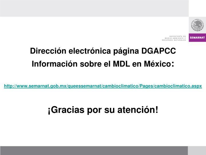 Dirección electrónica página DGAPCC