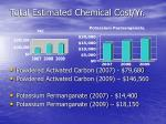 total estimated chemical cost yr
