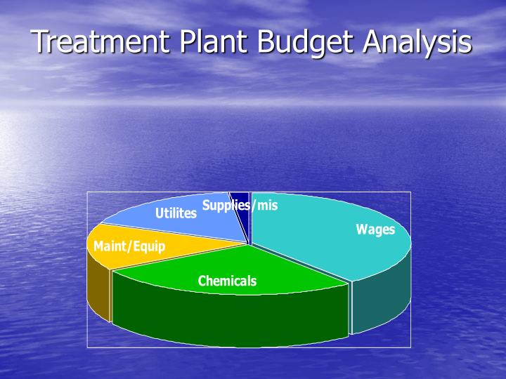 Treatment Plant Budget Analysis
