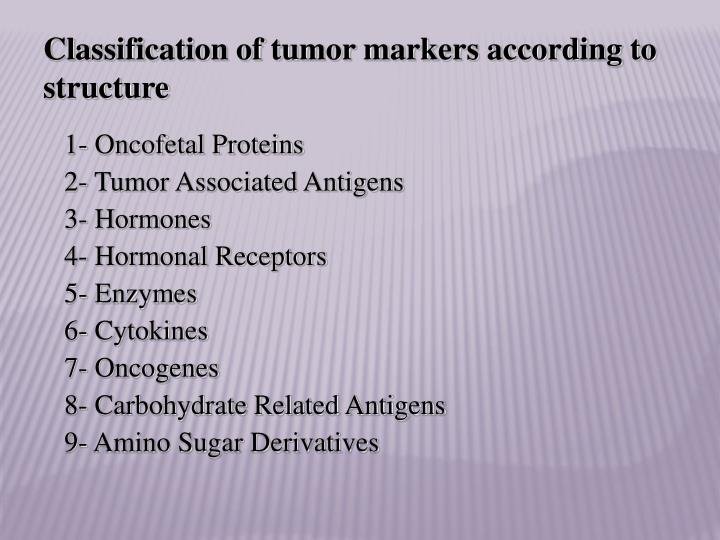 Classification of tumor markers according to structure