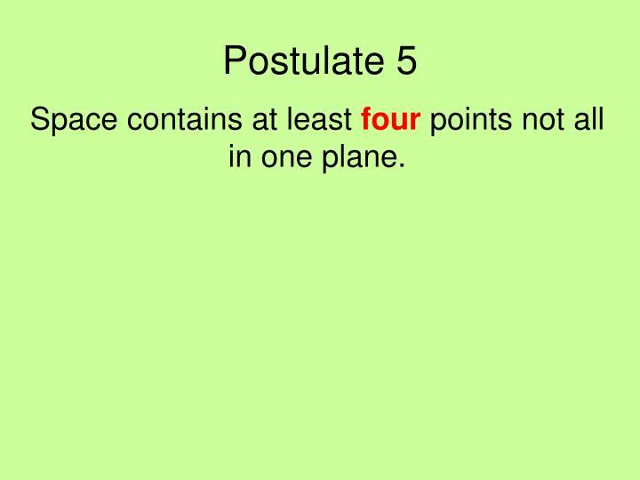 Postulate 5