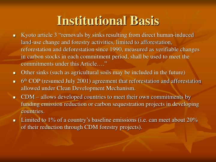 Institutional Basis