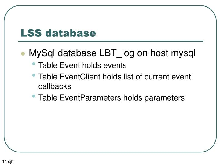 LSS database