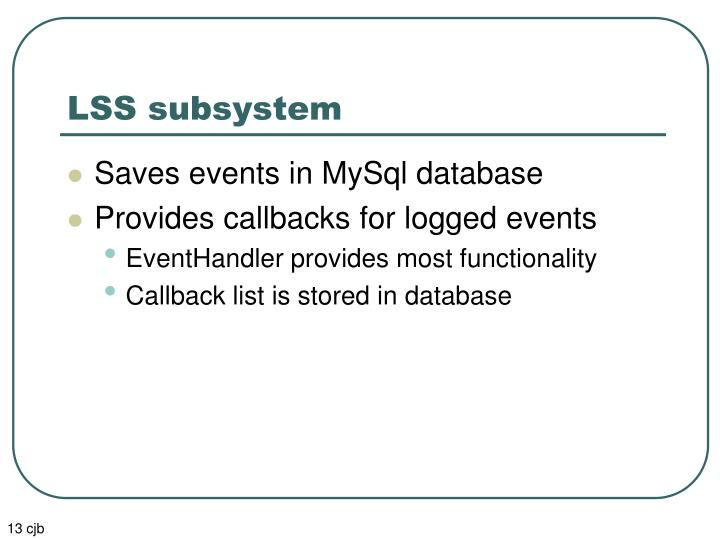 LSS subsystem