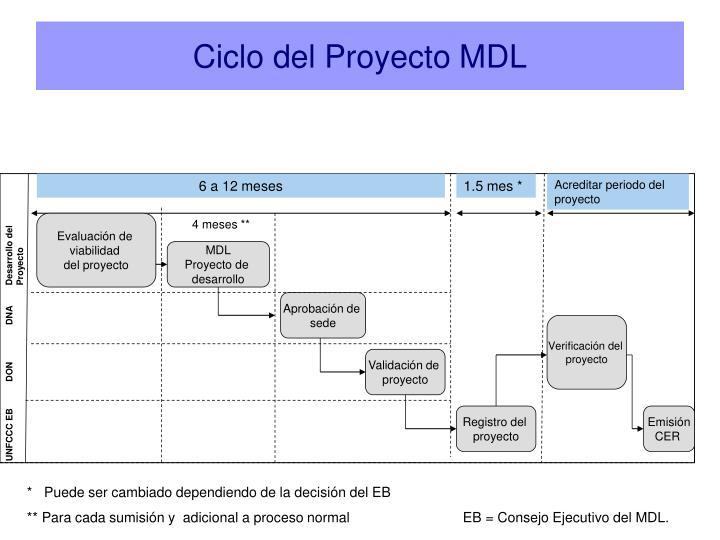 Ciclo del Proyecto MDL