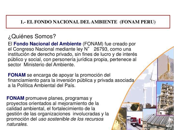 1.- EL FONDO NACIONAL DEL AMBIENTE  (FONAM PERU)