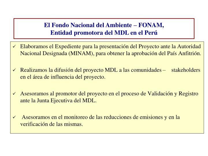 Elaboramos el Expediente para la presentación del Proyecto ante la Autoridad Nacional Designada (MINAM), para obtener la aprobación del País Anfitrión.
