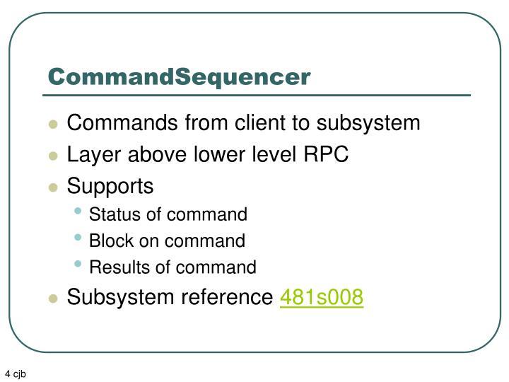 CommandSequencer