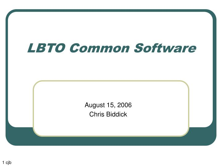 lbto common software