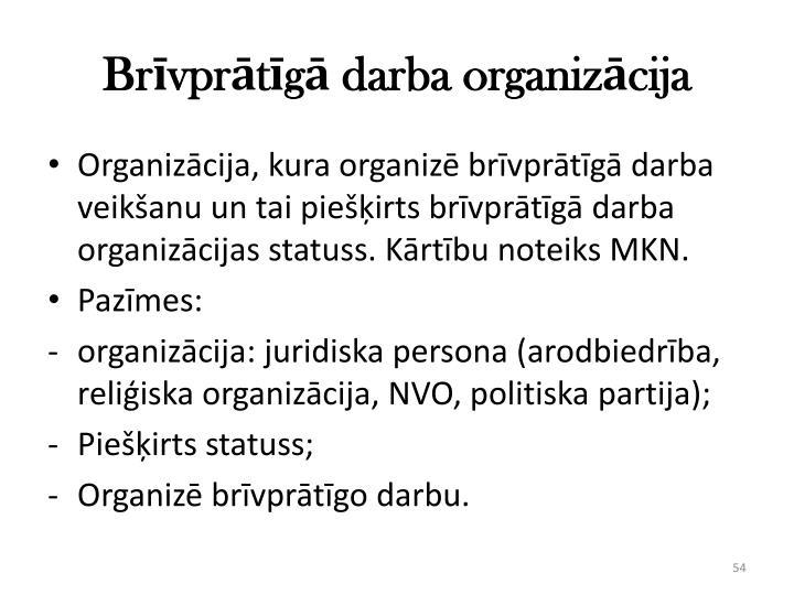 Brīvprātīgā darba organizācija