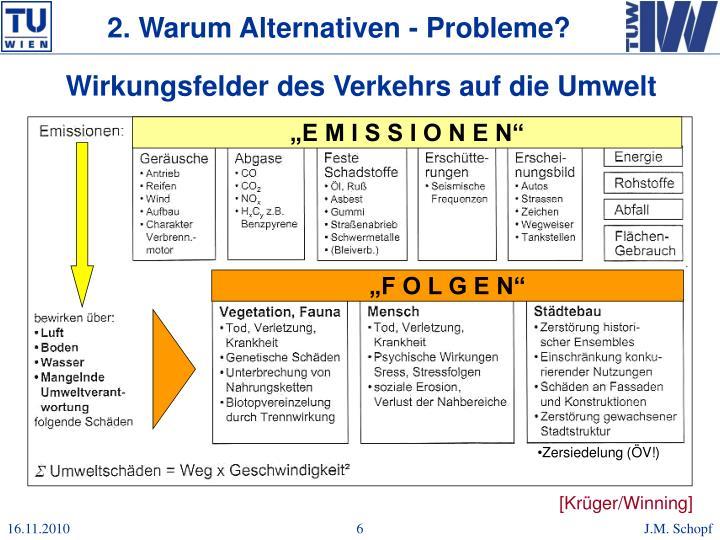 2. Warum Alternativen - Probleme?