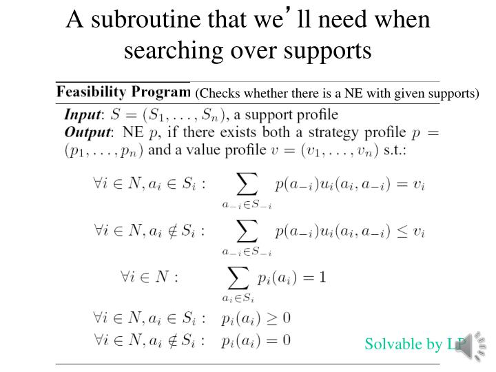 A subroutine that we