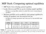 mip nash computing optimal equilibria