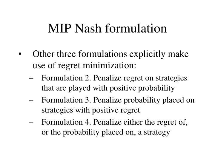 MIP Nash formulation