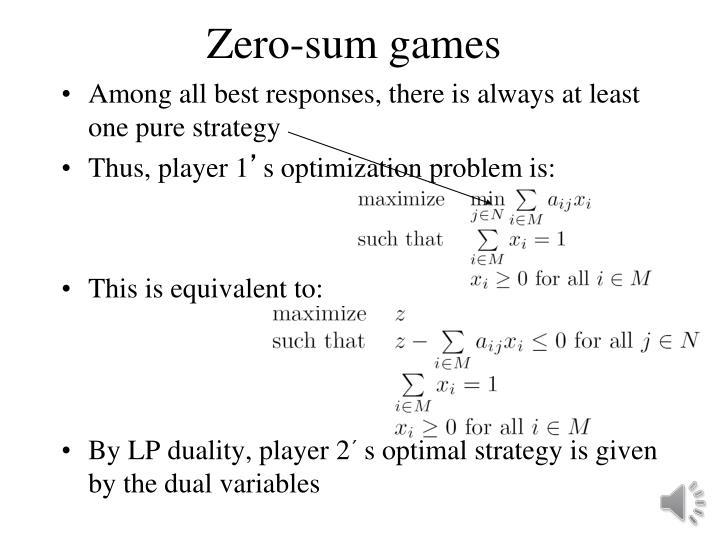 Zero-sum games