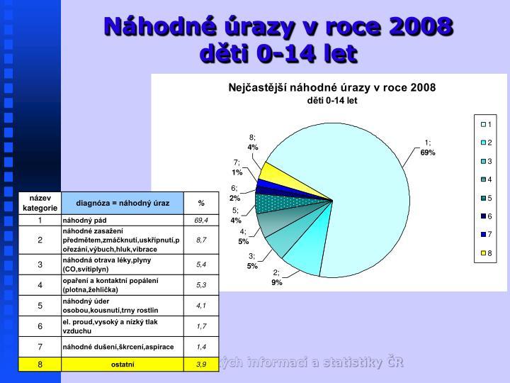 Náhodné úrazy v roce 2008